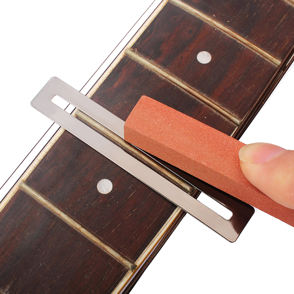 2017 New 4pcs/set Sanding Polishing Beam For Guitar Bass Fretboard Fret String Luthier Tool Guitar Accessories belcat bass pickup 5 string humbucker double coil pickup guitar parts accessories black