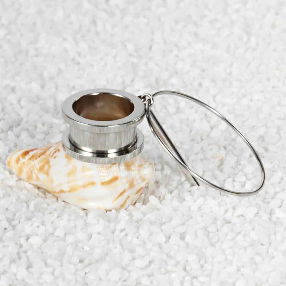 KUBOOZ אוזן פירסינג מודד נירוסטה להתנדנד תקעים מנהרות גוף תכשיטי Expander אלונקה אופנה עגילי תכשיטי 2PCS