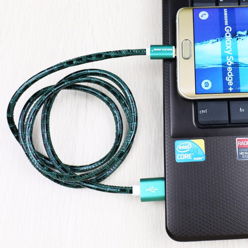 VOXLINK מקורי כבל מיקרו USB מהיר מטען נייד כבל הטלפון עבור Samsung Galaxy S6 S7 Edge/Huawei/Sony/Lenovo/אנדרואיד