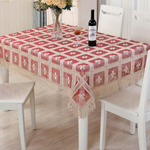 European lace embroidery table, table flags tablecloth, Christmas tablecloth jacquard series
