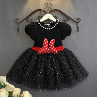 New Kids Dresses Fluffy Princess Party Costume Toddler Infant Clothing Polka Dot Baby Clothes Birthday Girls