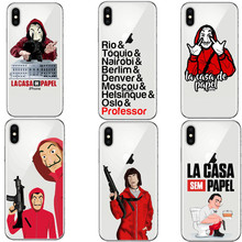 4988c868005 LOVINA CASES Funny Spain TV La Casa de papel for iPhone 5 5s SE 6 6S Plus 7  7Plus 8 X