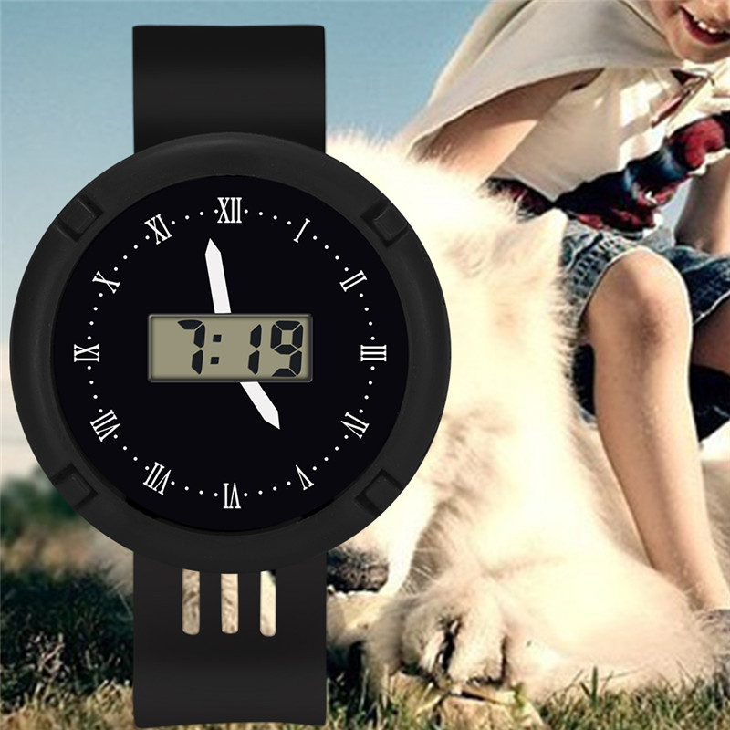 Children Girls Digital Watch Candy Color Boy Girl Electronic Student Leather Sport Watches Kids Clock Digital Wristwatch Watch