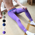 Simple Solid Color Thin Cotton Breathable Men's Warm Render Low Waist Long Johns