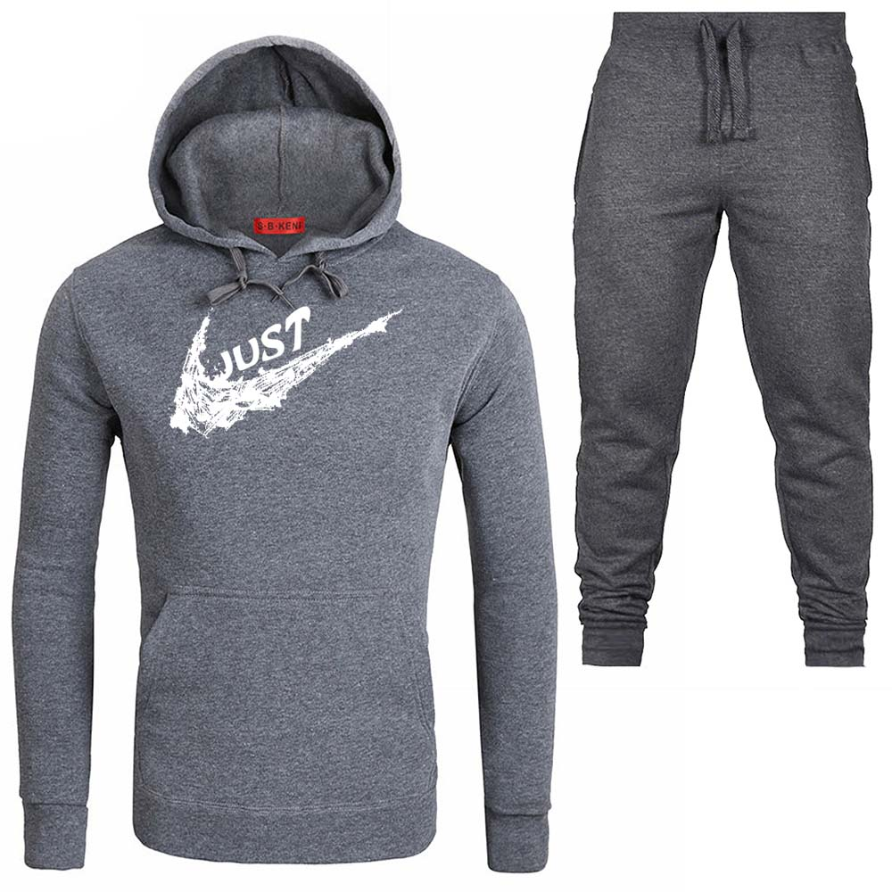 New Brand Tracksuit Hoodies Men Sportswear Two Piece Sets JUST Hoodies+Pants Sporting Suit Male/Female Cotton Fleece Thick Suit