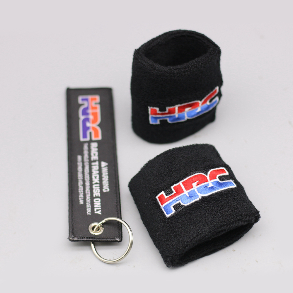 Universal HRC Motorcycle Brake Fluid Reservoir Clutch Tank Oil Cup Cover Socks For Honda CBR 600RR 1000RR 900RR 929RR 954RR cotton motorcycle brake fluid reservoir clutch tank oil cup cover socks for kawasaki ninja ex300 zx636r zx10r z750 z1000 zx12r