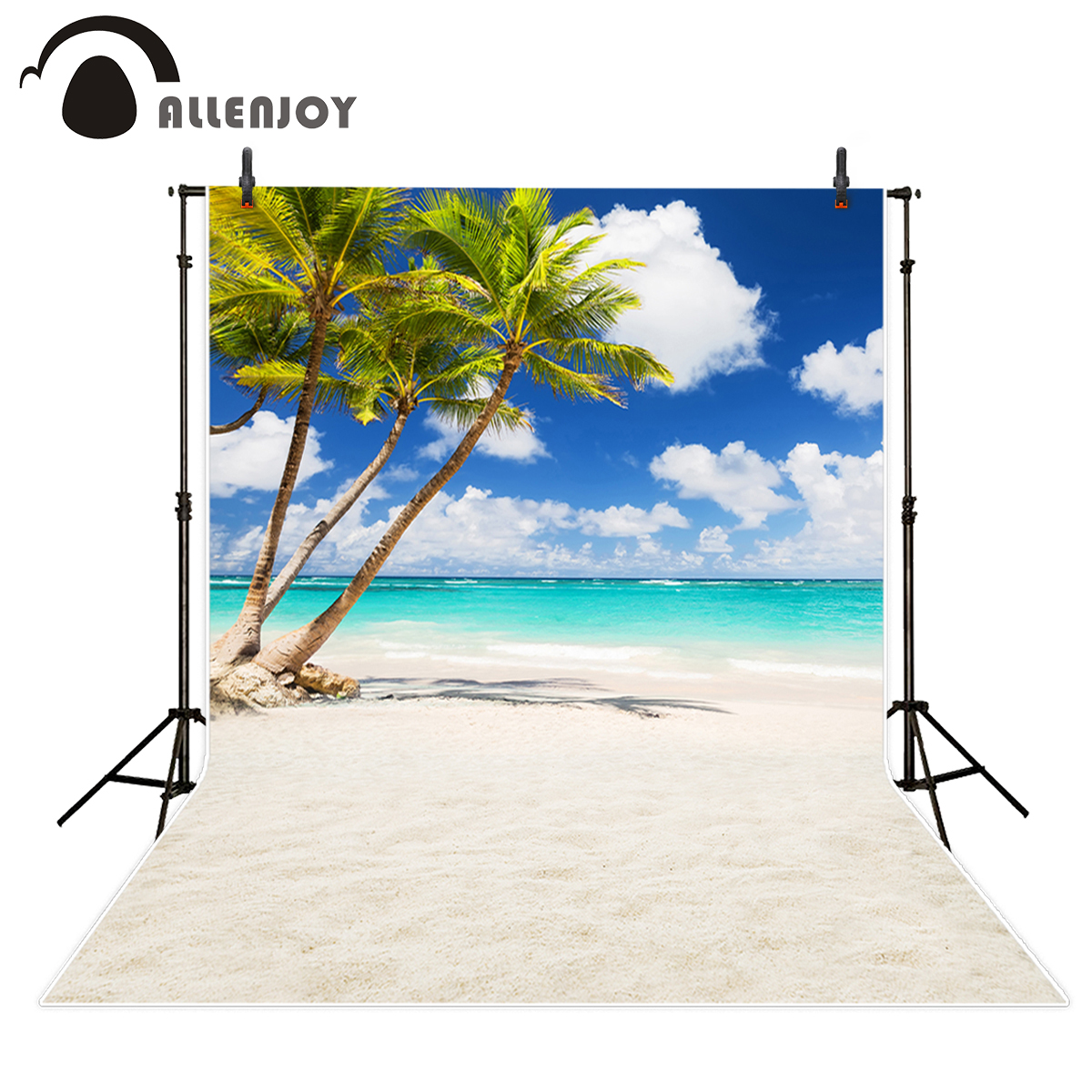 Allenjoy backgrounds for photo studio sea beach coconut tree sky cloud summer nature backdrop photobooth photocall decoration