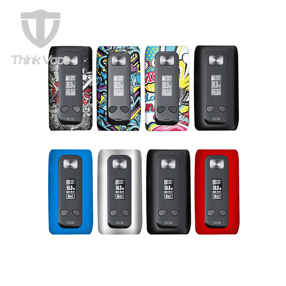 D'origine ThinkVape Thor 200 w TC Boîte MOD w/ST200 Puce et Modèles Attrayants et Alimenté Par Double 18650 Batterie vaporisateur Mod Vs Storm230