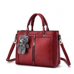 Mulheres bolsa de ombro bolsas femininas crossbody médio grande capacidade de senhoras totes cinta ursinho fio compras saco de escritório