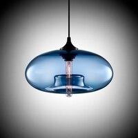 Modern Art deco Colgante de cristal de colores e27/e26 Lámpara Colgante con led Luces de la cuerda para restaurante salón Cocina bar cafe