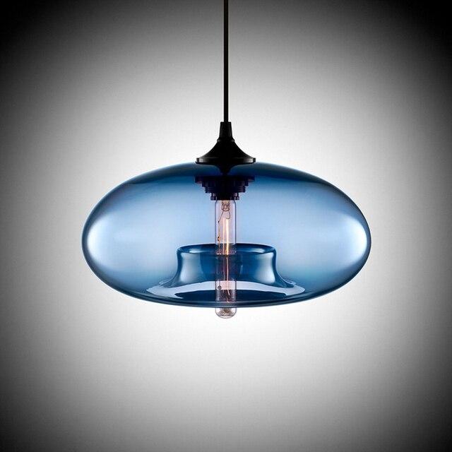 Modern Art deco Hängen bunte glas e27/e26 Pendelleuchte mit led ...