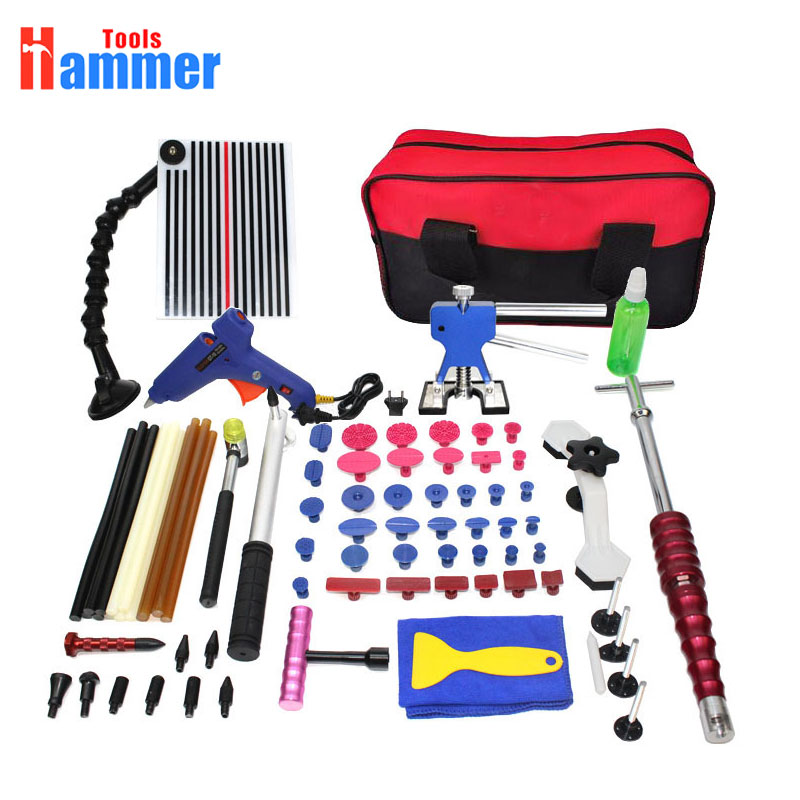 PDR Tools Kit Paintless Dent Repair Tool Set for Car body dent removal tools set Glue sticks Glue Gun hand Tools Bag-in Hand Tool Sets from Tools    1
