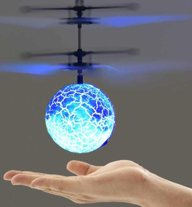 Flying Luminous Ball RC Kid's Flying Ball Anti-stress Drone Helicopter Infrared Induction Aircraft Remote Control Toys Gifts