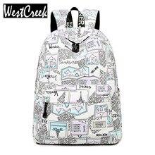 Модные женские туфли модный рюкзак школьная сумка Персонализированные письма узором Печать Девушки Книга Сумки женские ноутбук Bagpack