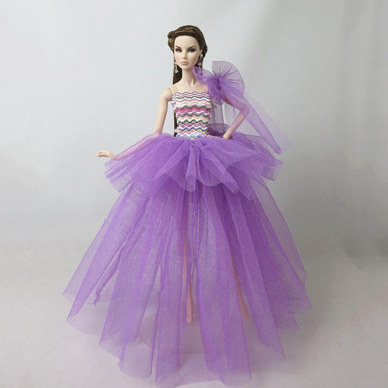 Handmade Fashion Dress Purple blouses shirt Purple skirt For 11.5 inches Doll