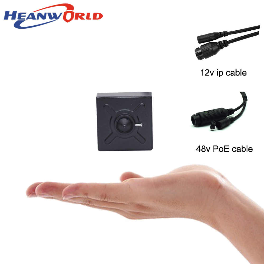 Heanworld IP המצלמה PoE 1080 P מיני מצלמה מקורה עם מיקרופון אודיו HD אבטחת מצלמה 3.7mm עדשת P2P תמיכה כלומר דפדפן