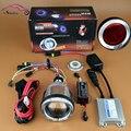 Motorcycle Headlight 2.5 inch HID Bixenon Projector Lens With CCFL Angel Eye Halo Demon Evil Eyes Headlamp Lenses Lamp Kit