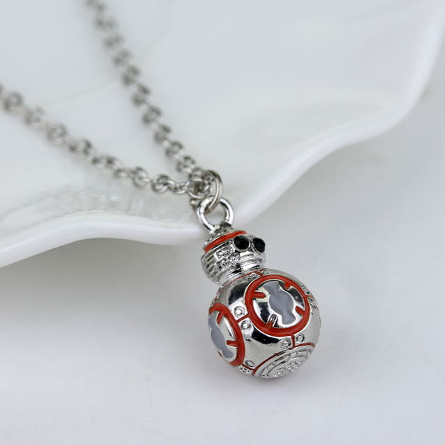 Movie Star Wars Jewellery Robot BB8 Fashion Pendant European Style Necklace For Boys and Girls