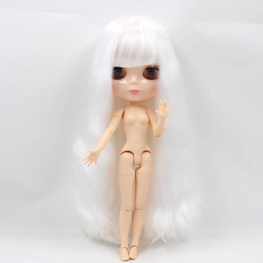 Neo Blythe Doll with White Hair, Natural Skin, Shiny Face & Jointed Body 1