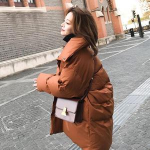 Image 4 - Veste dhiver pour femme, Parka épais, duvet rembourré en coton, vêtement dextérieur surdimensionné à manches longues, manteau femme, Q641