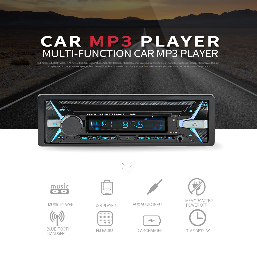 12V Bluetooth MP3 Player Wireless Receiver Vehicle Mp3 Decoder Board Car FM Radio Module TF USB 3.5mm AUX Audio Adapter Car Kit-in Car MP3 Players from Automobiles & Motorcycles