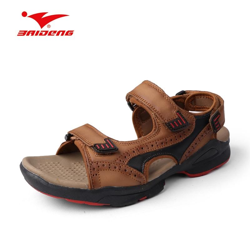 men beach font b sandals b font slippers genuine leather cowhide male sandalet erkekler summer shoes
