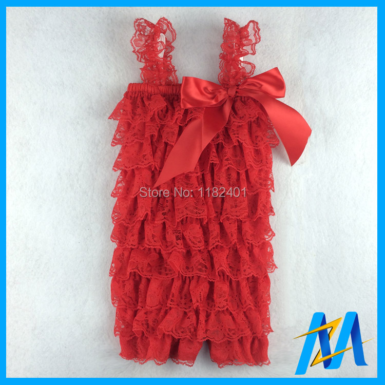 2f58839d695 Retail Baby Lace Petti Romper Solid Color Girls Ruffled Lace Romper Soft  Kids Lace Rompers 28 Colors Free Shipping-in Rompers from Mother   Kids on  ...