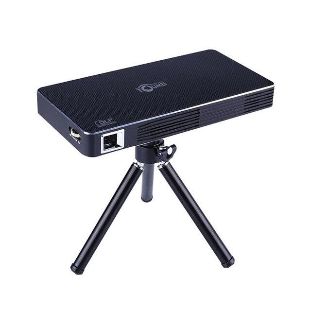 Portable Mini Home Cinema TV Projector Android 4.4 Wifi LED Smart ...