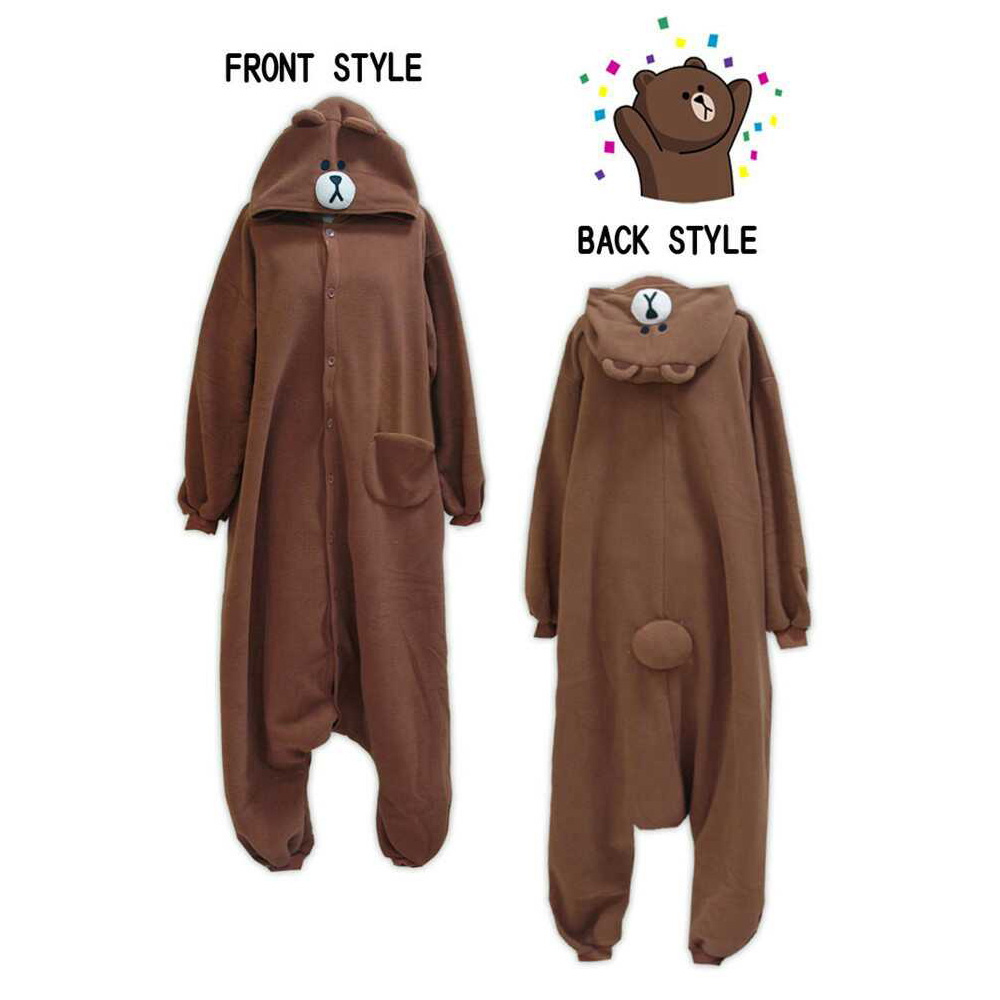 2016 New Costumes Adult Woman Man Cartoon Brown Bear -1753