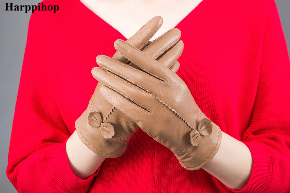 HTB1VQc4PXXXXXcQXVXXq6xXFXXXK - women's genuine leather gloves red sheepskin gloves autumn and winter fashion female windproof gloves
