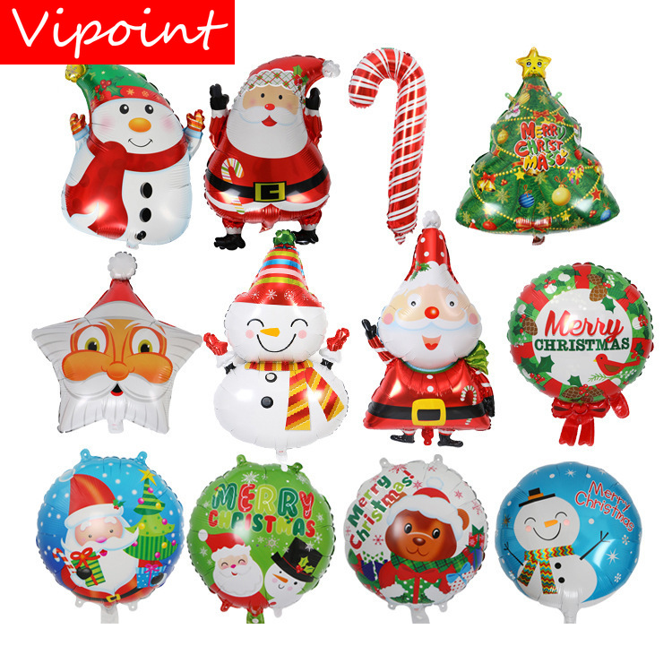 VIPOINT PARTY 18inch star Santa Claus snowman foil balloons wedding event christmas halloween festival birthday party HY-67