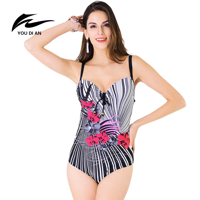 YOUDIAN 2017 sexy bathing suit women Swimwear One Piece Swimsuit Female Summer Beachwear plus size bodysuit monokini Patchwork sofa cushion printed pillow case