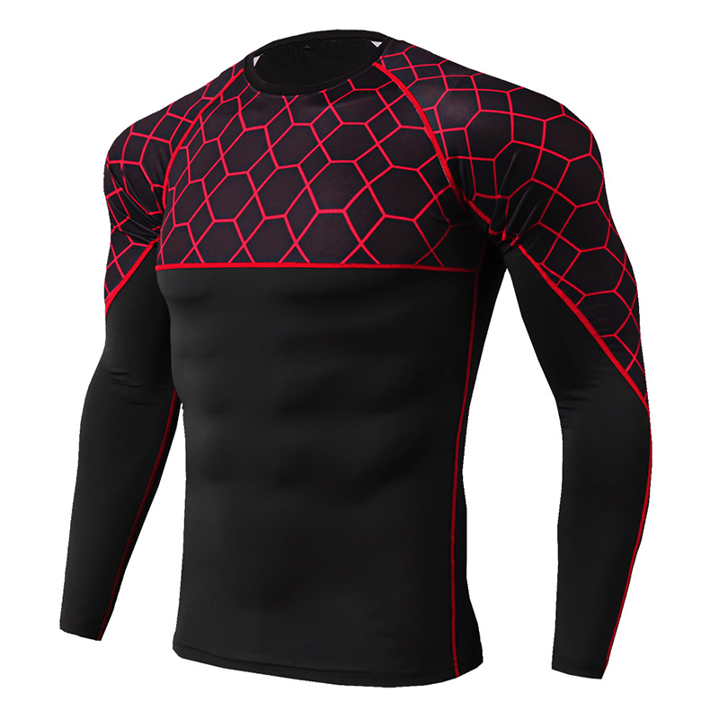 Thermal Underwear For Men Fitness Tight Shirt Long Johns Print Men's Underwear Thermos Cueca Sweat Quick-dry Thermal Underwear