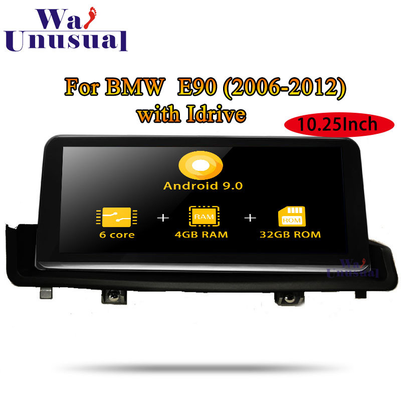 Android 9.0 Car GPS Navigation For BMW E90 (2006 2007 2008 2009 2010 2011 2012) with Idrive 2 Din Radio Player NO DVD Head Unit