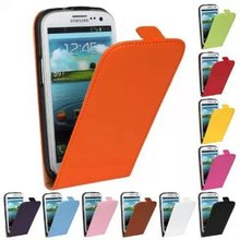For Samsung Galaxy S3 Genuine Leather Case Magnetic Pouch Vertical Flip S 3 III
