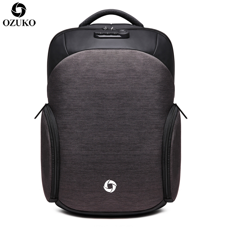 OZUKO New Anti-thief Backpack USB Charging 15.6inch Laptop Backpack for Men Women School Backpack Male Waterproof Travel Mochila