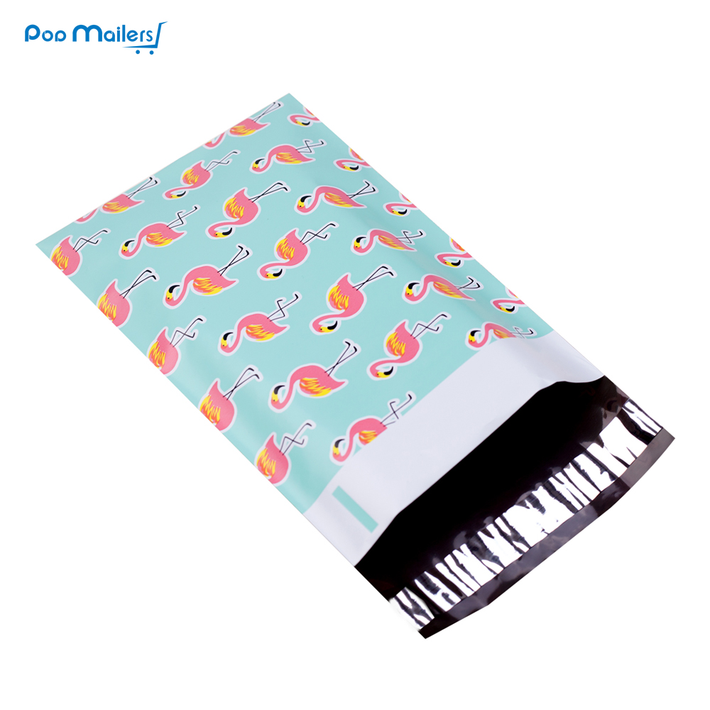 100pcs 15x23cm 6x9 Inch Flamingo Pattern Poly Mailers Self Seal Plastic Mailing Envelope Bags/Gift Mailing Bag