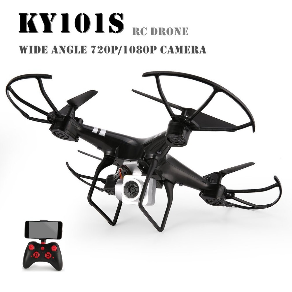 KY101S WiFi HD FPV Wide Angle 1080P/ 720P Camera Selfie RC Drone Altitude Hold Headless Mode 3D Flips One Key Return Quadcopter 100% original new runcam 2 fpv hd camera av out fpv camera runcam2 1080p 120 angle wifi for walkera qav250 rc racing drone
