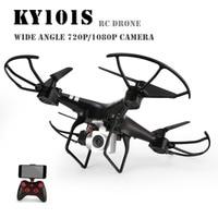 KY101S WiFi HD FPV Wide Angle 1080P/ 720P Camera Selfie RC Drone Altitude Hold Headless Mode 3D Flips One Key Return Quadcopter