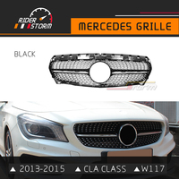 Riderstorm CLA Grill W117 Front Grille Mesh Auto Parts For Mercedes Benz CLA180 CLA200 CLA220 CLA250