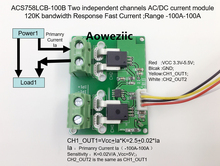 Aoweziic ACS758LCB-100B ACS758LCB ACS758 Two independent channels AC/ DC current detection module Rang:-100A-100A