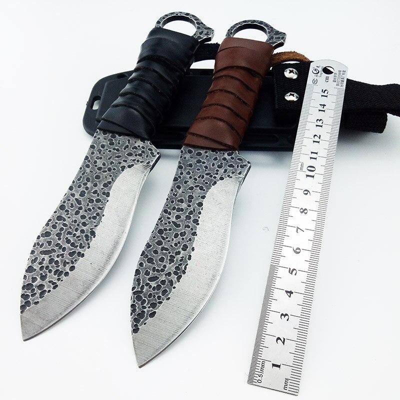 Cuchillo fijo táctico de la supervivencia cuchillo de caza que acampa senderismo cuchillo corrosión General arte con vaina gota