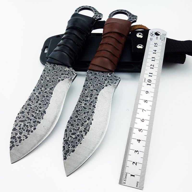 Fixed Blade Knife Tactical Survival Knife Camping Hunting Hiking Knife General Corrosion Art with Sheath Drop Shipping