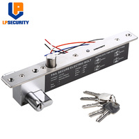 LPSECURITY Fail Secure Electric Latch Bolt Lock W/ Cylinder for Wooden Meal Glass Door