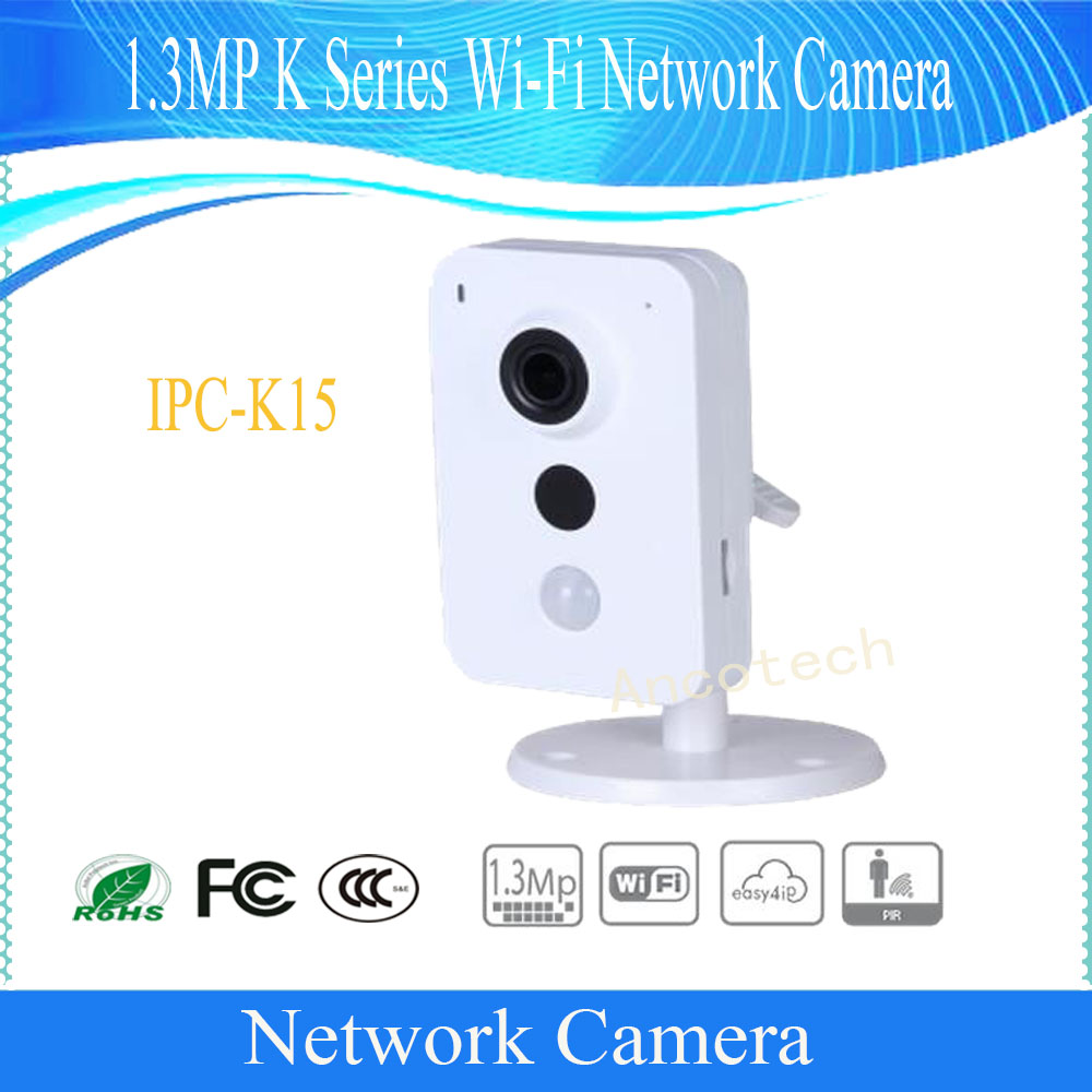 Free Shipping DAHUA Security WIFI Camera 1.3MP K Series Wi-Fi Network Camera without Logo IPC-K15 free shipping dahua video intercom 7inches wi fi indoor monitor without logo vth5221d vth5221dw