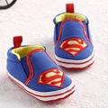 Baby Boys And Girls Shoes Blue Superman Cotton Baby Toddler Shoes Size 0-12 Months Child Walker  For The First Time	YEW325