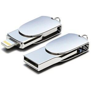 Image 3 - Novel Lightning USB Flash Drive 256 GB 128 GB Pendrive Memory Stick Voor iPhone USB Flash Pen Drives U Stok voor iPad iPod