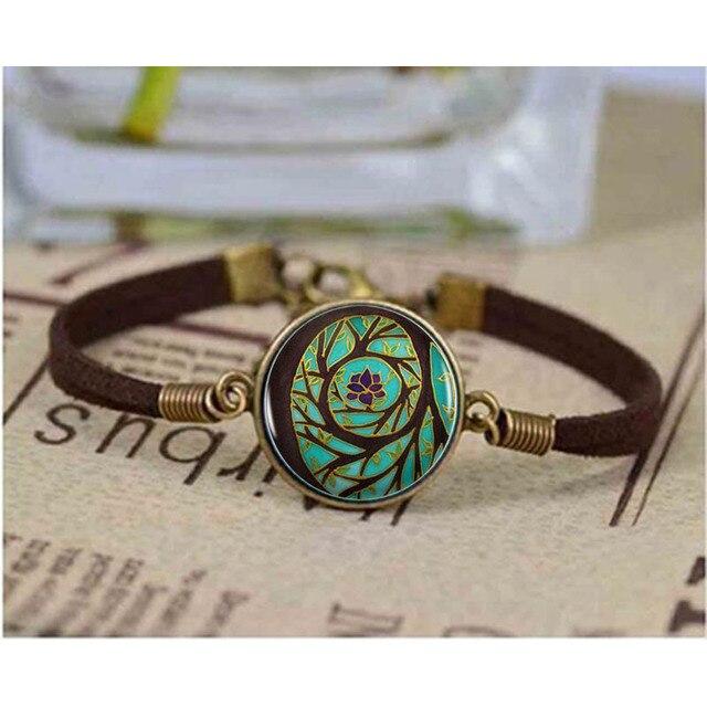 Well known Tree Of Enlightenment Mandala Logo bracelet Spiritual Art  VD73