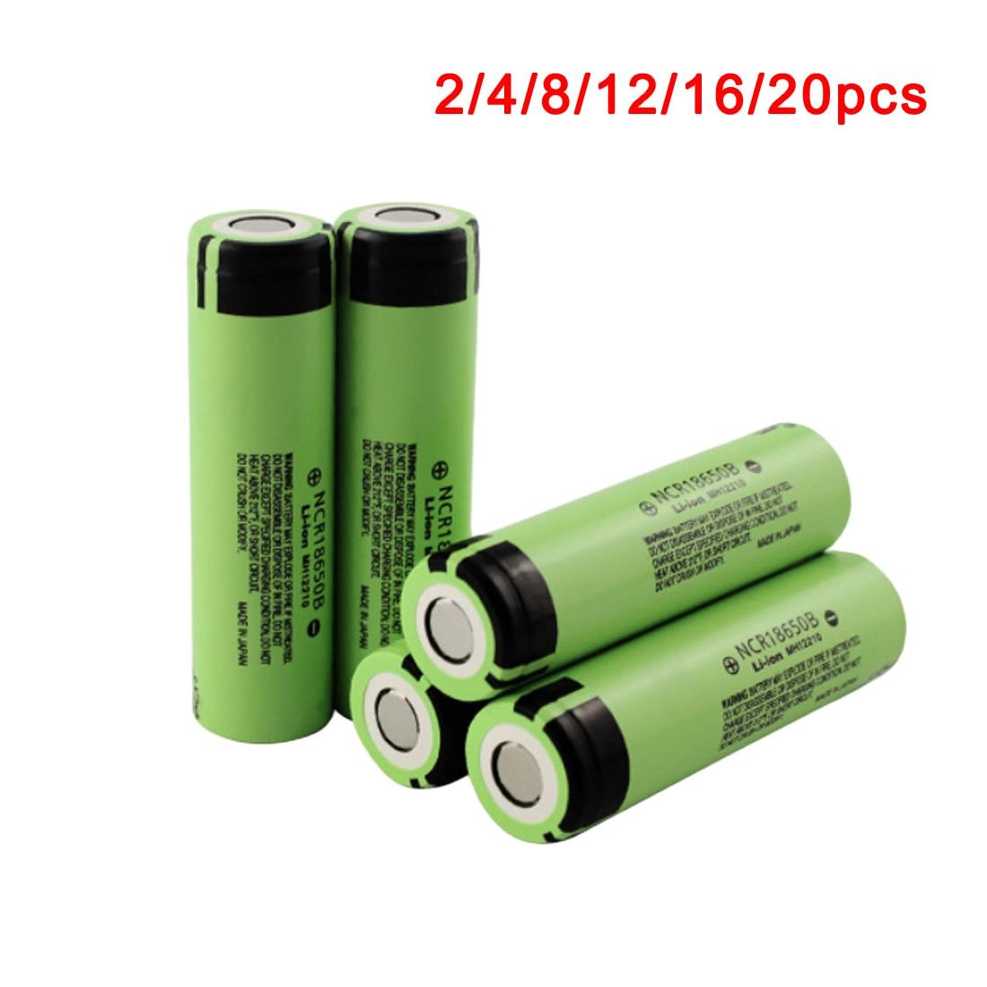 Centechia 2/4/8/12/16/20 STÜCKE 3,7 V NCR 18650B 3400 mAh Wiederaufladbare batterien Für Panasonic 18650 Batterie/Tragbares Ladegerät/Licht