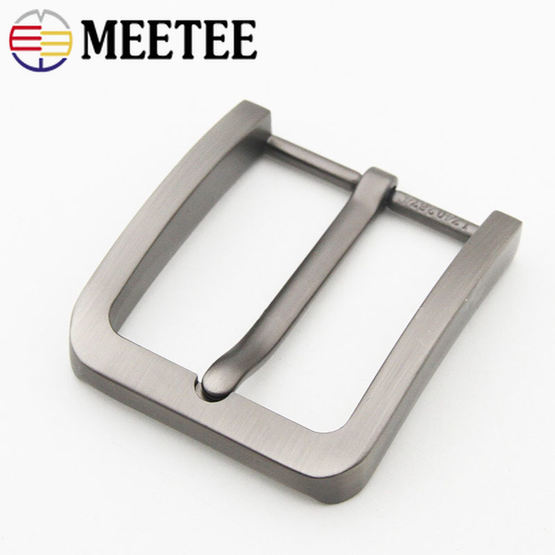 Meetee 40mm 1/2pcs Fashion Belt Buckles For Men Metal Pin Buckle DIY Leather Craft Jeans Hardware Accessories AP527